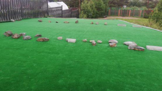 Ландшафтная искусственная трава 6 мм Панама Spring Green (Темно-зеленая)